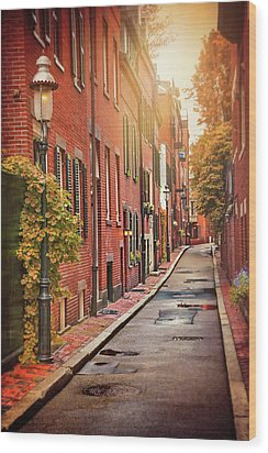 Wood Print featuring the photograph Beacon Hill Area Of Boston  by Carol Japp