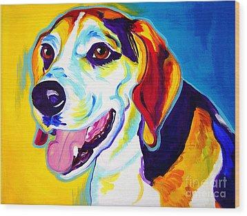 Beagle - Lou Wood Print