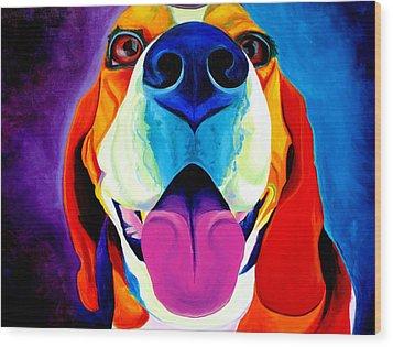 Beagle - Lollipop Wood Print