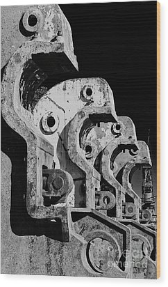 Wood Print featuring the photograph Beam Bender - Bw by Werner Padarin
