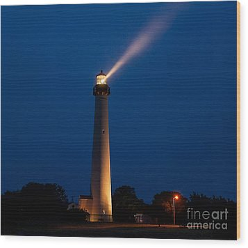 Wood Print featuring the photograph Beam Of Light At Cape May by Nick Zelinsky