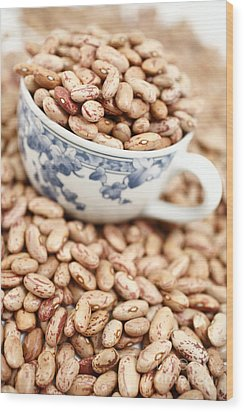 Beans In A Cup Wood Print by Gaspar Avila