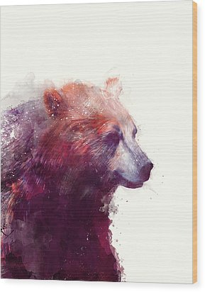 Bear // Calm Wood Print