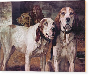 Bear Dogs Without Border Wood Print by H R Poore