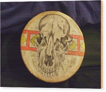 Bear Drum Wood Print by Angelina Benson