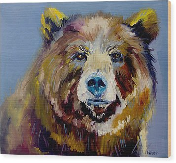 Bear Exposed Wood Print