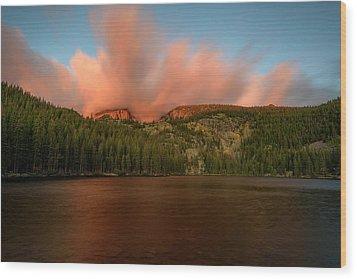 Bear Lake's Hallett Peak #1 Wood Print