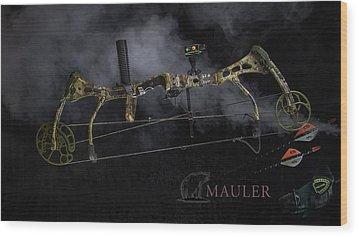 Wood Print featuring the photograph Bear Mauler by Tim Nichols
