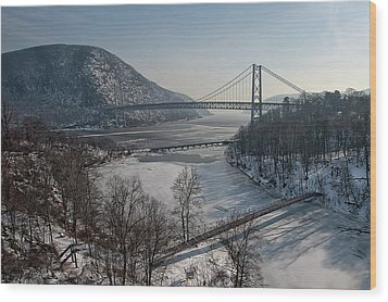 Bear Mountain Bridge Wood Print by Photosbymo