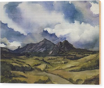 Wood Print featuring the painting Bear Mountain Colorado by Alfred Ng