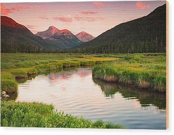 Bear River Sunset Wood Print