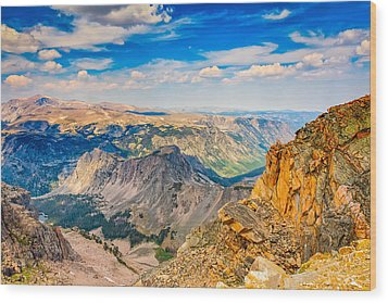 Wood Print featuring the photograph Beartooth Highway Scenic View by John M Bailey