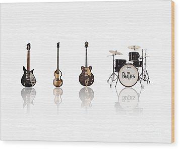 Beat Of Beatles Wood Print by Six Artist