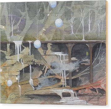 Wood Print featuring the painting Beata's Destiny by Jackie Mueller-Jones