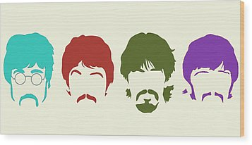 Beatles Wood Print by Elizabeth Coats