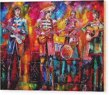 Beatles Hello Goodbye Wood Print by Leland Castro