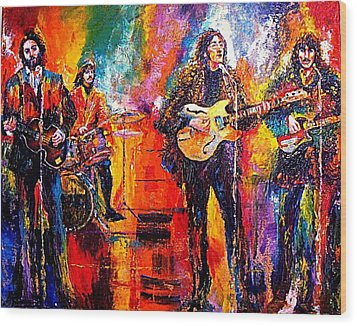 Beatles Last Concert On The Roof Wood Print by Leland Castro
