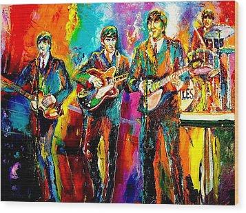 Beatles  Wood Print by Leland Castro