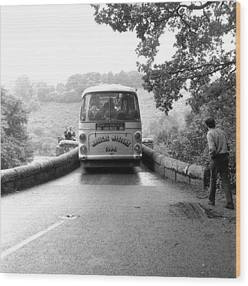 Beatles Magical Mystery Tour Bus Wood Print by Chris Walter