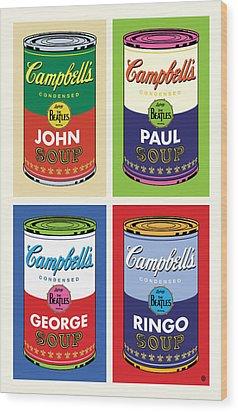 Beatles Soup Wood Print by Gary Grayson