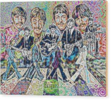 Beatles Tapestry Wood Print by Dave Luebbert