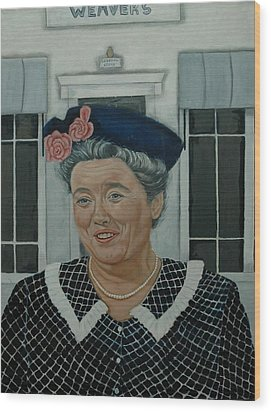 Beatrice Taylor As Aunt Bee Wood Print by Tresa Crain