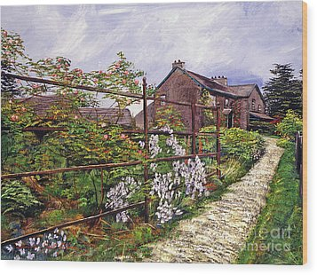 Beatrix Potter House Wood Print by David Lloyd Glover