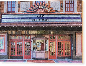 Wood Print featuring the digital art Beaumont Jefferson Theater by JC Findley