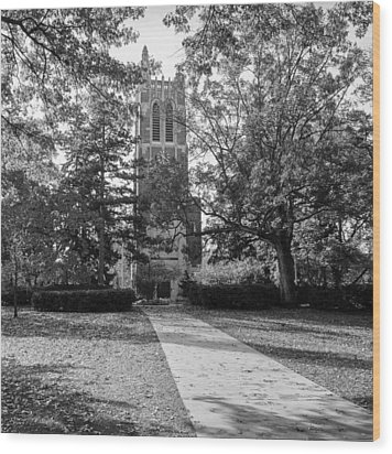 Beaumont Tower Wood Print by Larry Carr