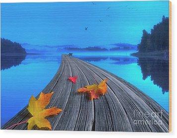 Beautiful Autumn Morning Wood Print by Veikko Suikkanen