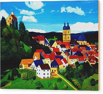 Beautiful Bavarian Village Wood Print