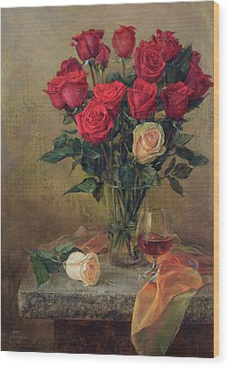 Beautiful Bouquet Of Roses Wood Print