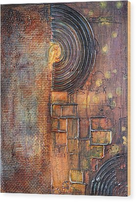 Beautiful Corrosion Wood Print by Theresa Marie Johnson