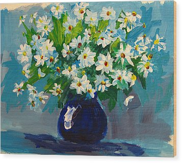 Beautiful Daisies  Wood Print