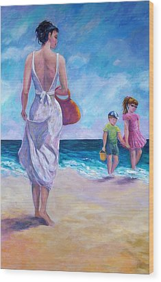 Beautiful Day At The Beach Wood Print