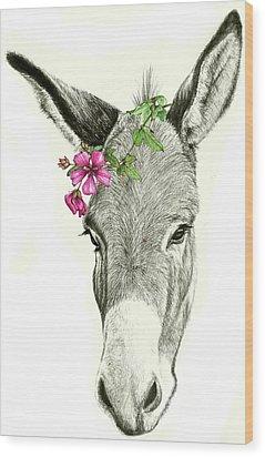 Beautiful Donkey Wood Print by Heidi Kriel