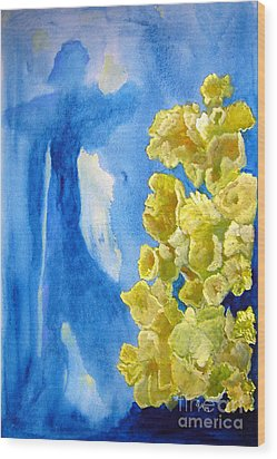 Wood Print featuring the painting Beautiful Dreamer by Sandy McIntire