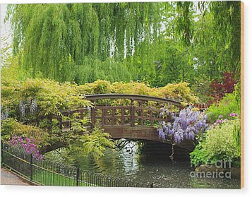 Beautiful Garden Art Wood Print by Boon Mee