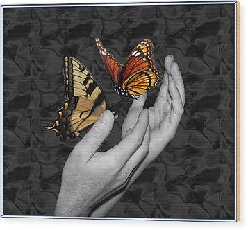 Beautiful Hands Two Wood Print by Amanda Vouglas