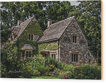 Beautiful Home Wood Print by Joann Copeland-Paul