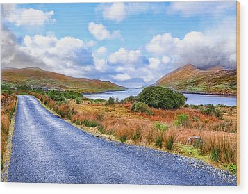 Beautiful Irish Countryside Of County Galway Wood Print by Mark E Tisdale