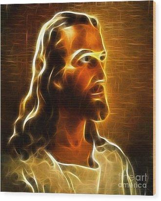 Beautiful Jesus Portrait Wood Print by Pamela Johnson