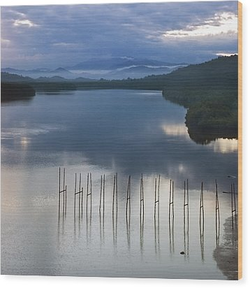 Wood Print featuring the photograph Beautiful Landscape by Ng Hock How