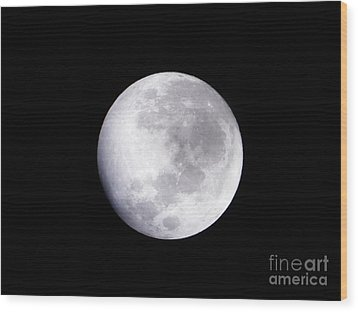Beautiful Moon Wood Print by Cindy Hudson