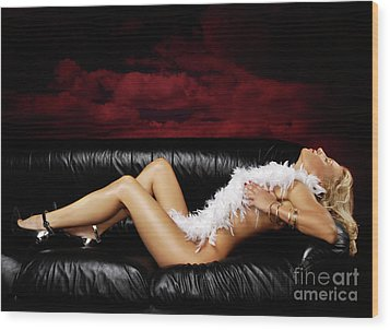 Beautiful Naked Woman On A Couch Wood Print by Oleksiy Maksymenko