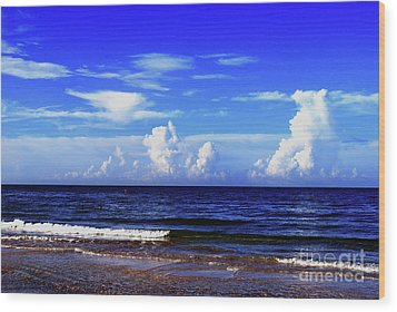 Wood Print featuring the photograph Beautiful Ocean View by Gary Wonning