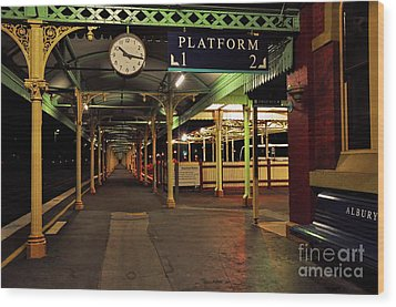 Beautiful Old Albury Station By Kaye Menner Wood Print by Kaye Menner