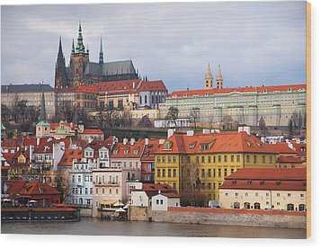 Wood Print featuring the photograph Beautiful Old Prague by Jenny Rainbow