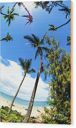 Wood Print featuring the photograph Beautiful Palms Of Maui 17 by Micah May