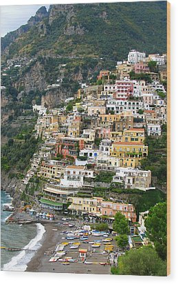 Beautiful Positano Wood Print